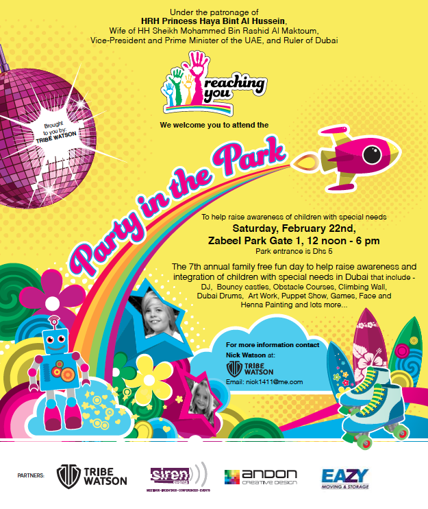 Invitation to Reaching You party in the park